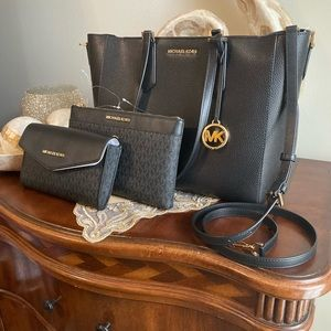 MICHAEL KORS LG 3IN1 KIMBERLY TOTE